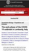 新研究:新冠病毒1月1日就开始在意伦巴第大区流行